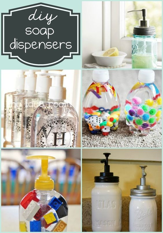 Diy Soap Dispensers Soap Dispenser And Soaps On Pinterest