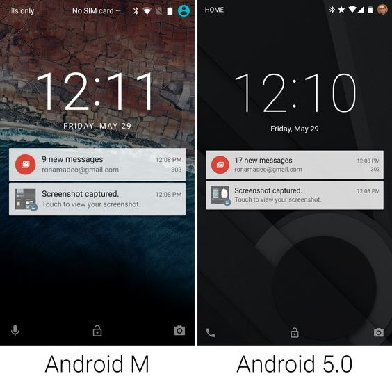Android M vs Android L