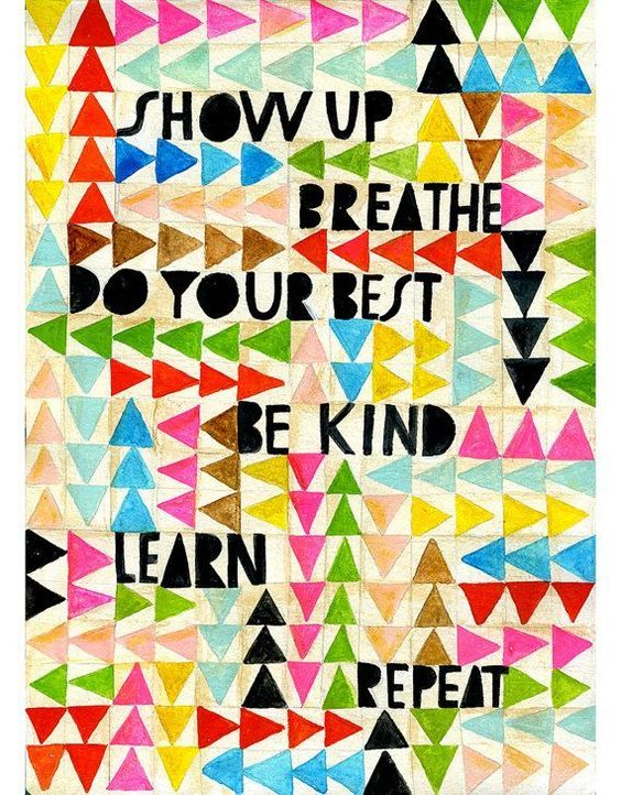 Inspiring quote and handlettered art. Show Up Art Print Lisa Congdon by lisacongdon on Etsy