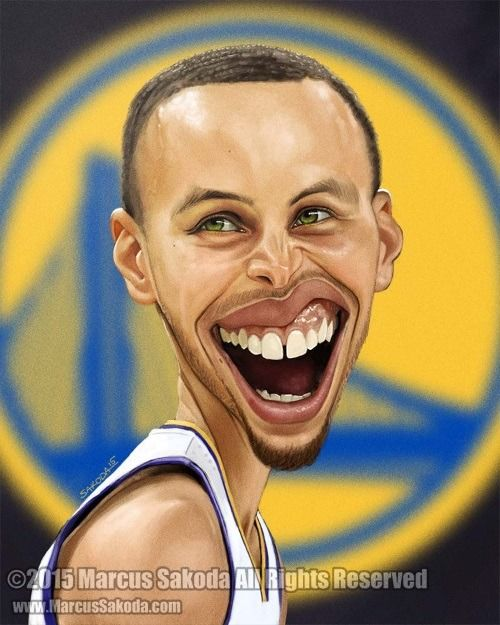 Get Stephen Curry Cartoon Face PNG