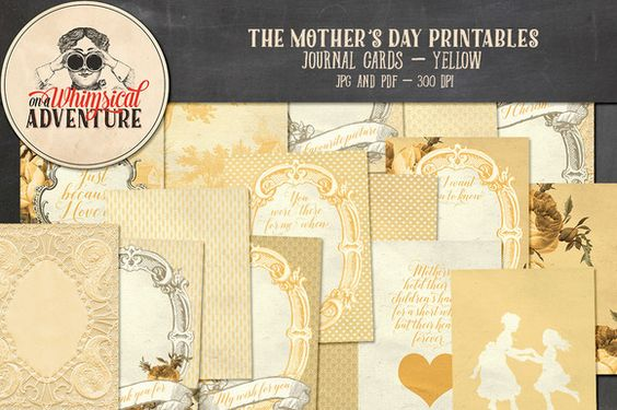 On Sale - Mother's Day JC Yellow by On A Whimsical Adventure on @creativemarket