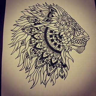 Lion Mandala Tattoo Google Search Tatouage Pinterest