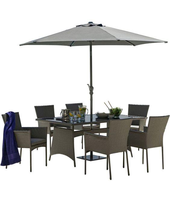 buy havana 6 seater patio set grey at argoscouk your online shop for garden table and chair sets garden pinterest garden furniture and gardens