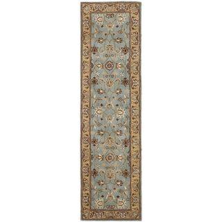 Handmade Heritage Mahal Blue/ Gold Wool Runner (2'3 x 16') | Overstock.com Shopping - Great Deals on Safavieh Runner Rugs