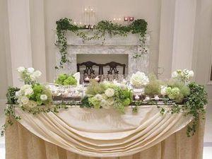 【結婚式】ホワイト・グリーンのおしゃれなテーブルコーディネート・装花集【