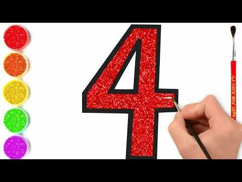 Leaning Coloring With Drawing Glitter Number How To Draw Number Colors Drawing For Kids Drawings Color