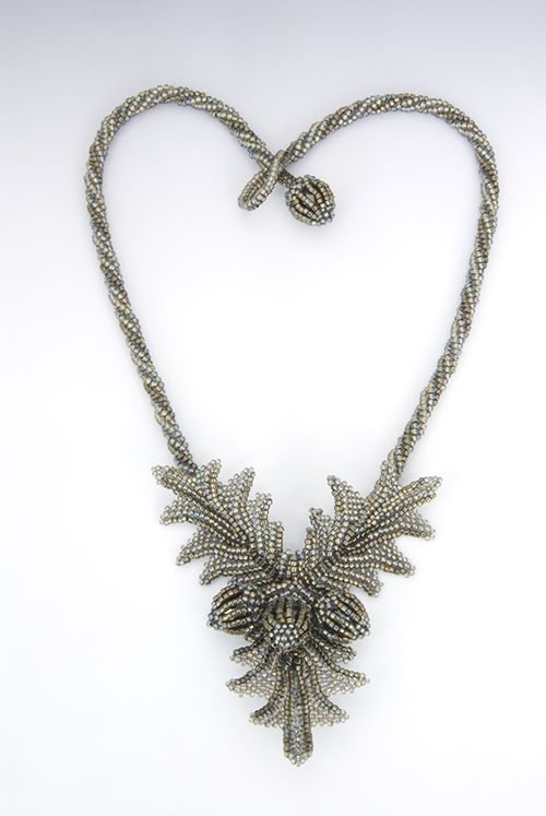 Leslie Frazier Oak Leaves and Acorns Necklace