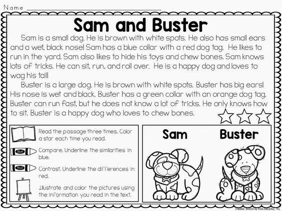 Printables Compare And Contrast Reading Worksheets compare and contrast reading on pinterest passages for reading