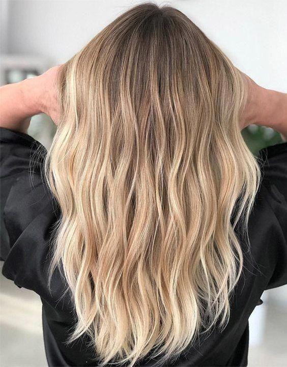 cabelos com luzes loiros sensual