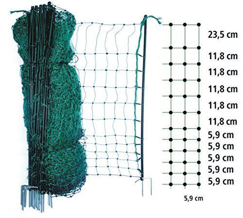 50m Geflügelzaun Elektronetz 112cm Geflügelnetz Hühnernetz Hundezaun Hühnerzaun