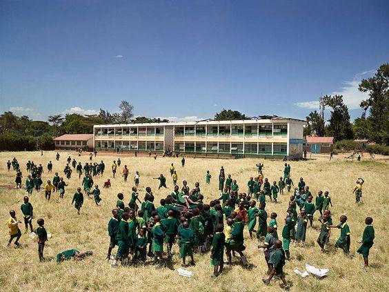 from James Mollison's Playground series - Kaloleni, Kenya