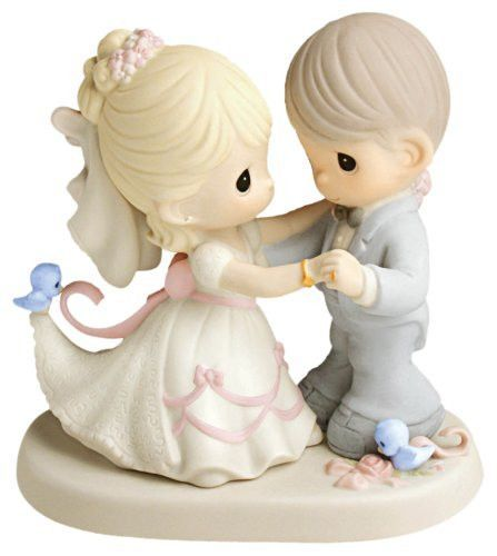 Item Number: 630026 Dimensions: 3.60 x 5.16 x 5.24 inches A breathtaking bride and groom share their very first dance as husband and wife. Captures that moment when the newlyweds are surrounded by fam