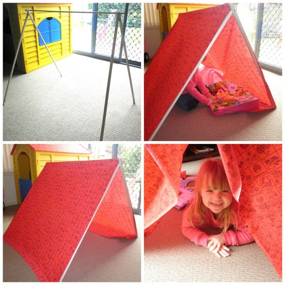 This provided days of fun! Check out how to make this DIY Play tent! #diy #tent #kids #play