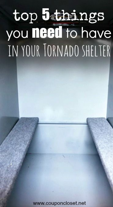 Top 5 Things You Should Put in Your Storm Shelter so you are prepared for bad weather. What do you keep in your tornado shelter?