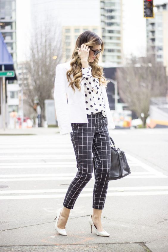 Black and white prints for work chic!: