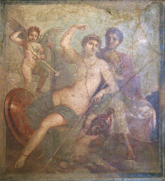 Venus con Marte y Cupido