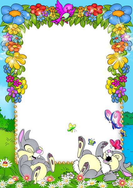 flower background frame