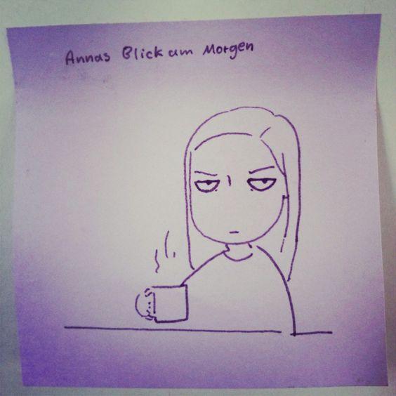 Annas Blick am Morgen vertreibt...?!? #beebop #boardassistant #agencyart