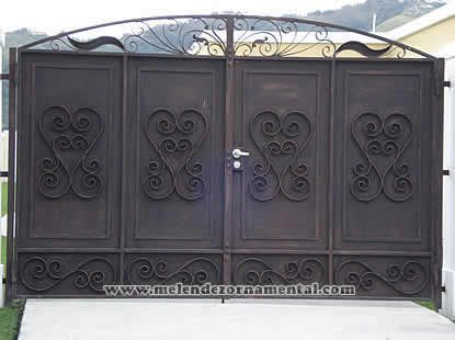 Best ideas about rico screens melendez ornamental and for Disenos de puertas de hierro
