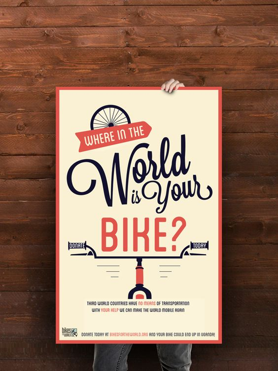 Advocacy Posters: Bikes for the World on Behance