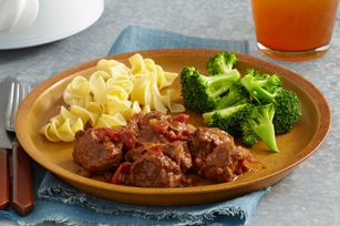 Crock pot swiss steak.  Tastes great!  Cooked on low for 9 hours.