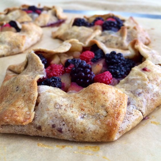 Simple Berry Tarts. Store Pie shell rolled with cinnamon, nutmeg ...
