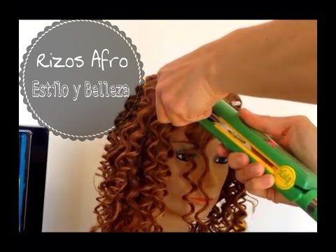 Hacer Rizos Afro con Plancha - Afro Curls with Iron Estilo y Belleza - YouTube