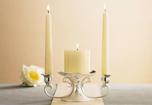 Unity candles wedding decor unity candle holder wedding for Alternative candle holders