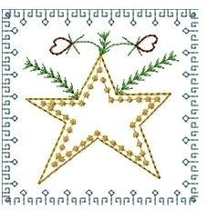 Christmas Squares 4x4 Set   Christmas   Machine Embroidery Designs   SWAKembroidery.com Homeberries Designs