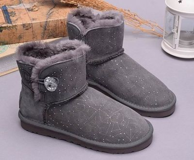UGG Boots Mini Bailey Button Bling Constellation 1008822 Grey