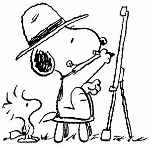snoopy_at_easel