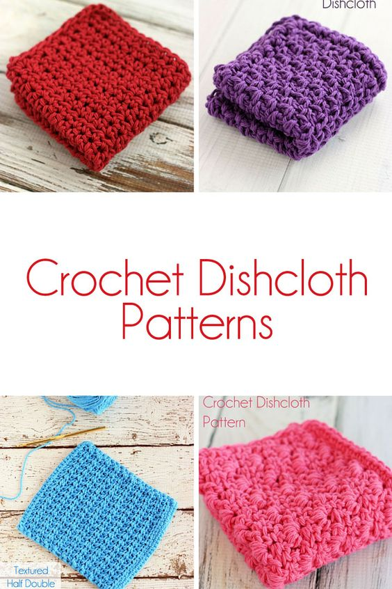 Free Crochet Ripple Dishcloth Pattern ~ Dancox for .
