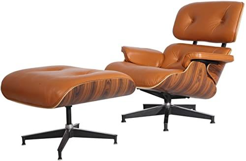 New Battiphee Eames Lounge Chair And Ottoman Mid Century Modern Light Brown Aniline Leathe In 2020 Eames Lounge Chair Eames Chair Dining Room Eames Lounge Chair White