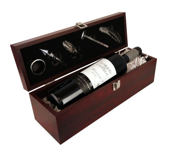 Geschenkset Weinset Marques de Castilla Reserva Tempranillo trocken in Holzkiste