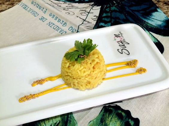 arroz a la mostaza