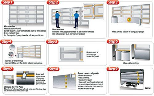 Snap On Screens 10x8 Garage Screen Door Insulation Garage Door Insulation Kit Garage Door Insulation