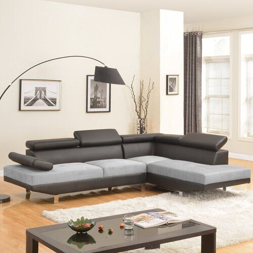 Best Seller Orren Ellis Sectional Right Hand Facing Free Shipping Online In 2020 Modern Sofa Designs Leather Sectional Sofas Sofa Design