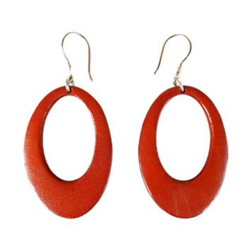In the mood for citrus?! Try these oval modern earrings in Tangerine from Anna Sukardi.