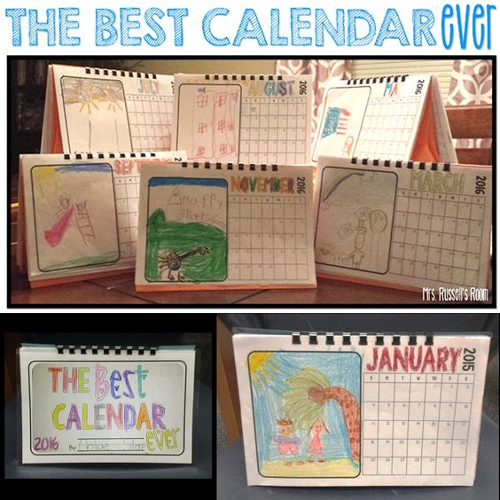 Love this quick calendar gift for parents!