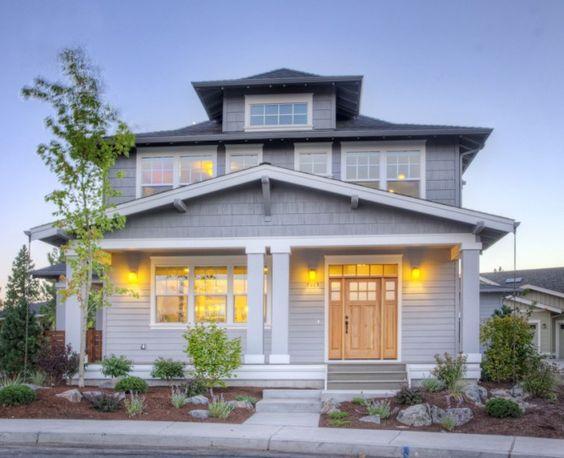 Foursquare Style House Plan Bend Oregon Exteriors Pinterest