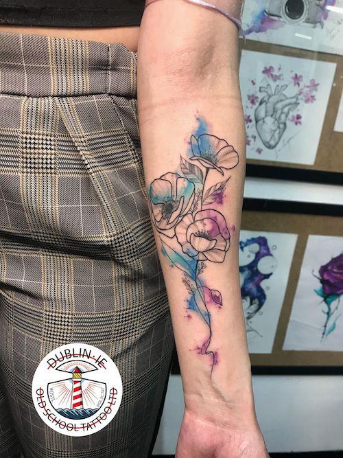 Watercoulour Tattoo Fine Line Tattoos Watercolor Tattoo