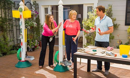 Home family tips products shirley bovshow s vertical garden tool post hallmark channel Home channel gardening