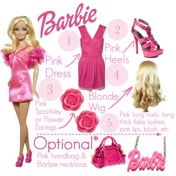 """Do-It-Yourself Halloween Costume: Barbie"" by kayceelovesyou3 on Polyvore:"