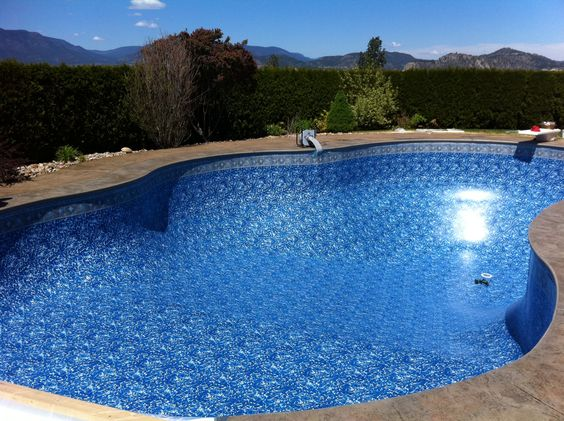 Pictures of blue tiles and unique on pinterest for Pool design kelowna