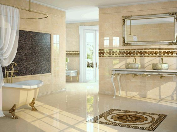Banheiros e lavabos para inspirar