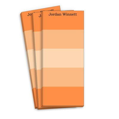 Orange Multi Striped Skinnie Notepads