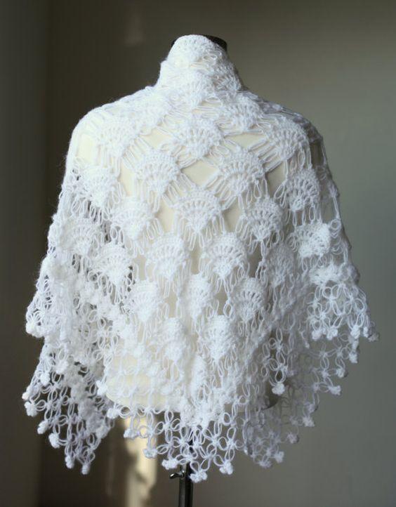 Wedding shawl, Shawl and Crochet shawl on Pinterest