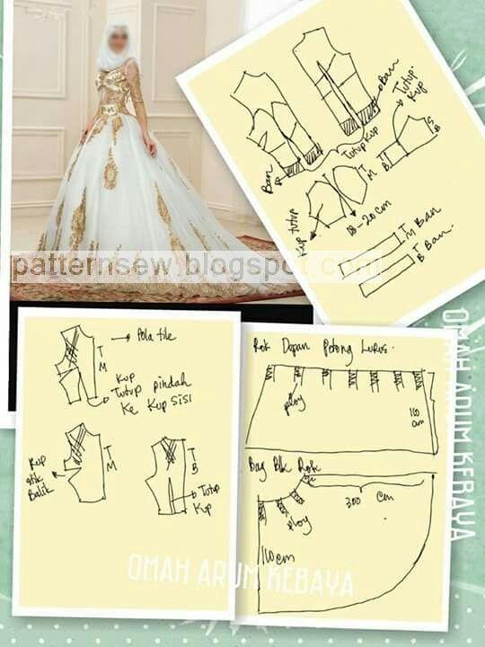 باترون خياطة باترون قنادر الدار باترون قنادر عراس وباترون ملابس تقليدية Wedding Dress Sewing Patterns Wedding Gown Patterns Wedding Dress Patterns