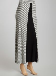 striped maxi skirt BLACK & WHITE SEPARATES AS LOW AS $9.99 ~