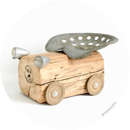 wooden toy tractor: